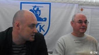 Правозащитник Валентин Стефанович (слева)