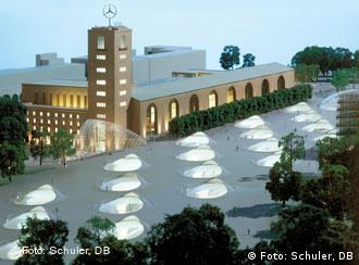 Modell des geplanten unterirdischen Stuttgarter Bahnhofs
