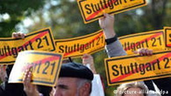 Stuttgart 21 protesters