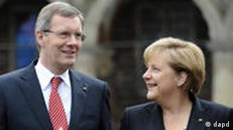 Christian Wulff and Angela Merkel