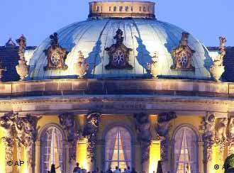 El palacio de Sanssouci, patrimonio de la humanidad.