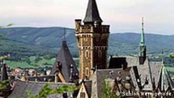 Blick auf die Gesamtanlage des Schlosses Wernigerode