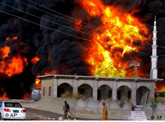 Dozens of oil tankers have been torched in Pakistan