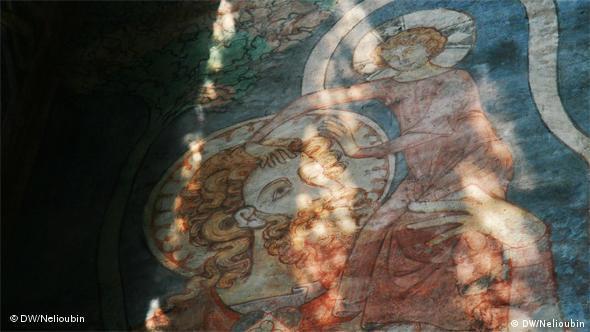 Святой Христофор - покровитель путешественников. Роспись в Висмаре