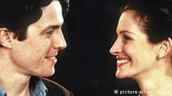 Julia Roberts and Hugh Grant in the 1998 film Notting Hill