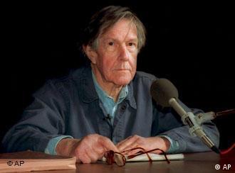 John Cage na Universidade de Harvard, em Cambridge (Massachusetts)