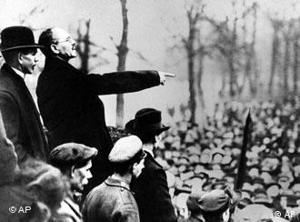 Либкнехт в Берлине в 1918 году.
