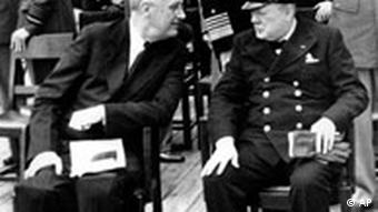 Franklin D. Roosevelt und Winston Churchill
