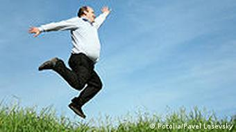 jumping fat man Fotolia_3734090 Pavel Losevsky - Fotolia 2007