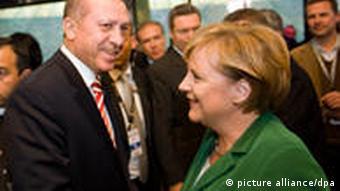Merkel with Turkish PM Erdogan