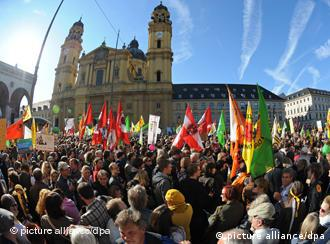 Saturday's protest in the center of Munich