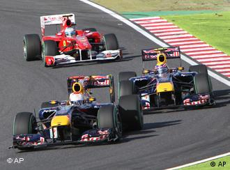 Two Red Bulls cars followed lead the Japan Grand Prix