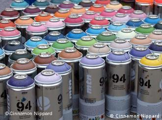 Cans of spray paint