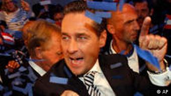 Heinz Christian Strache of Austria's Freedom Party