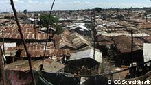 Der Slum Kibera in Nairobi