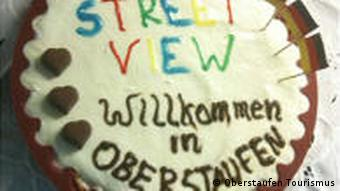 Google Street View cake