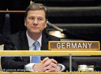 German Foreign Minister Guido Westerwelle attends the vote for non-permanent members for a two-year term on the security council at United Nations headquarters in New York USA, 12 October 2010. Germany, Portugal and Canada are competing for the remaning two seats on the United Nations security council. EPA/PETER FOLEY