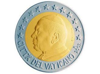 Монета достоинством 2 евро с изображением папы римского Папы Иоанна II