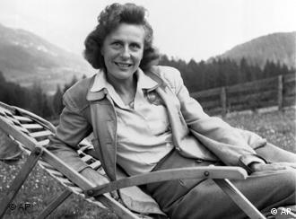 Leni Riefenstahl en su casa en Austria, en 1945.