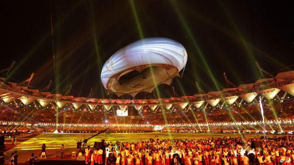 Commonwealth Games Clothing Ceremony Neu Delhi Indien Sport Flash-Galerie