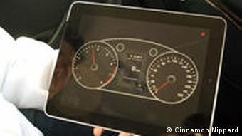 The MiG's iPad software