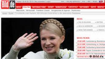 Screenshot der Nachrichtenseite Bild.de