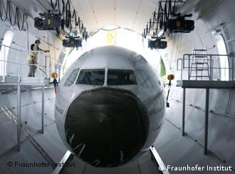 The simulator is built inside of a decommissioned Airbus A310