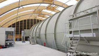 The 30-meter low pressure chamber surrounds the front section of the plane