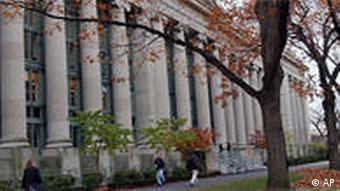 US universities such as Harvard are very popular with Chinese students