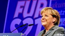 Bundeskanzlerin Angela Merkel waehrend des Deutschlandtages der Jungen Union