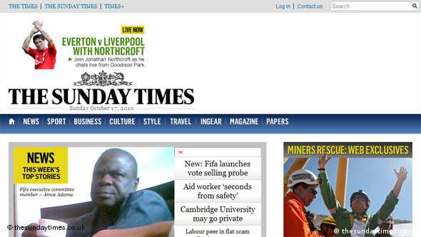 Flash-Galerie Screenshot Sunday Times (thesundaytimes.co.uk)