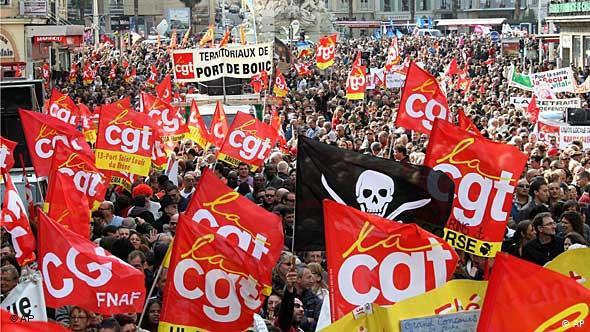Proteste gegen Rentenreform Frankreich