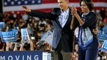 Barak Obama und Michelle Obama unterstützen die Demokraten vor den Kongresswahlen in den USA