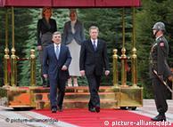 استقبال  عبدالله گل از کریستیان وولف در آنکارا