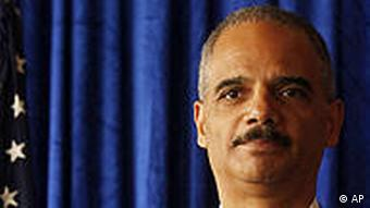 US Attorney General Eric Holder during a press conference in Hongkong in October 2010