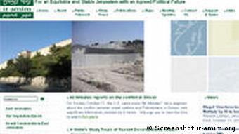 Screenshot der Seite der NGO 'Ir Amim'