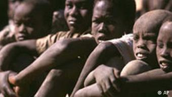 The faces of boys are shown as they wait to be released in Sudan.