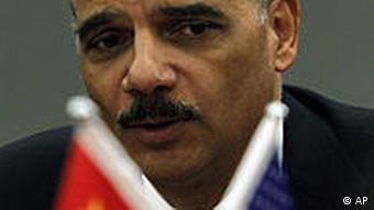 China USA Justizminister Eric Holder in Peking