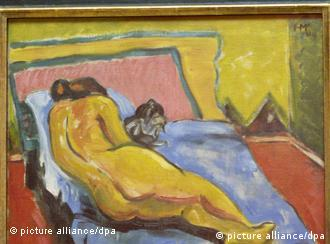 Ležeći akt s mačkom Hermanna Maxa Pechsteina