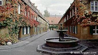 Fuggerei in Augsburg Wohnsiedlung