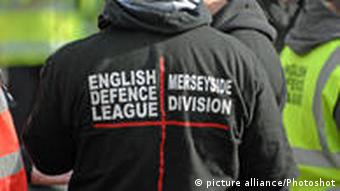A supporter of the right-wing English Defence League