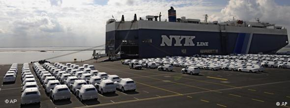 German cars in a port