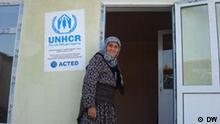 Übergabe von provisorischen Häusern an Opfer des Konflikts im Süden Kirgistans. Foto: DW-Korrespondent Alexandr Tokmakow, 20.Oktober 2010