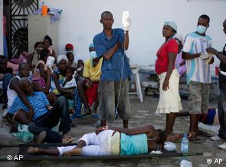 Haitian Patients suffering from diarrhea and other cholera symptoms