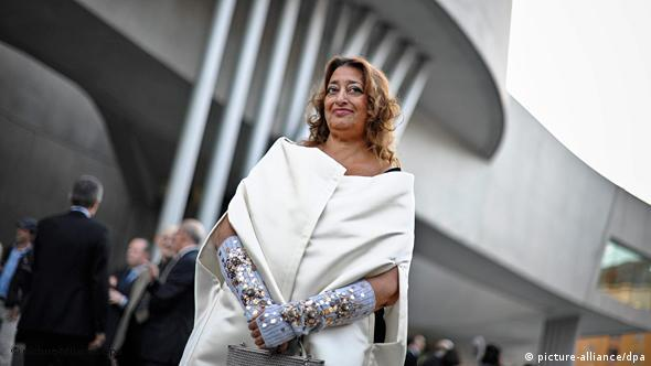 Iraqi architect Zaha Hadid poses for a photo during the opening ceremony of the National Museum of 21st Century Arts (MAXXI), in Rome, Italy, 28 May 2010 . EPA/GUIDO MONTANInull