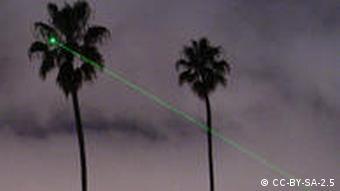 Луч из мощной лазерной указки
