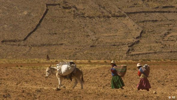 Bolivien Indigene Landbevölkerung Land Anden Hochland Aymara
