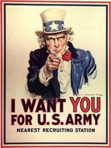 Der US-amerikanische Uncle Sam auf einem Werbeplakat für die US-Army (Foto: gemeinfrei)