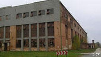 The former aluminum factory in Almasfuzito
