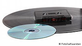 record, cd, and music cassette